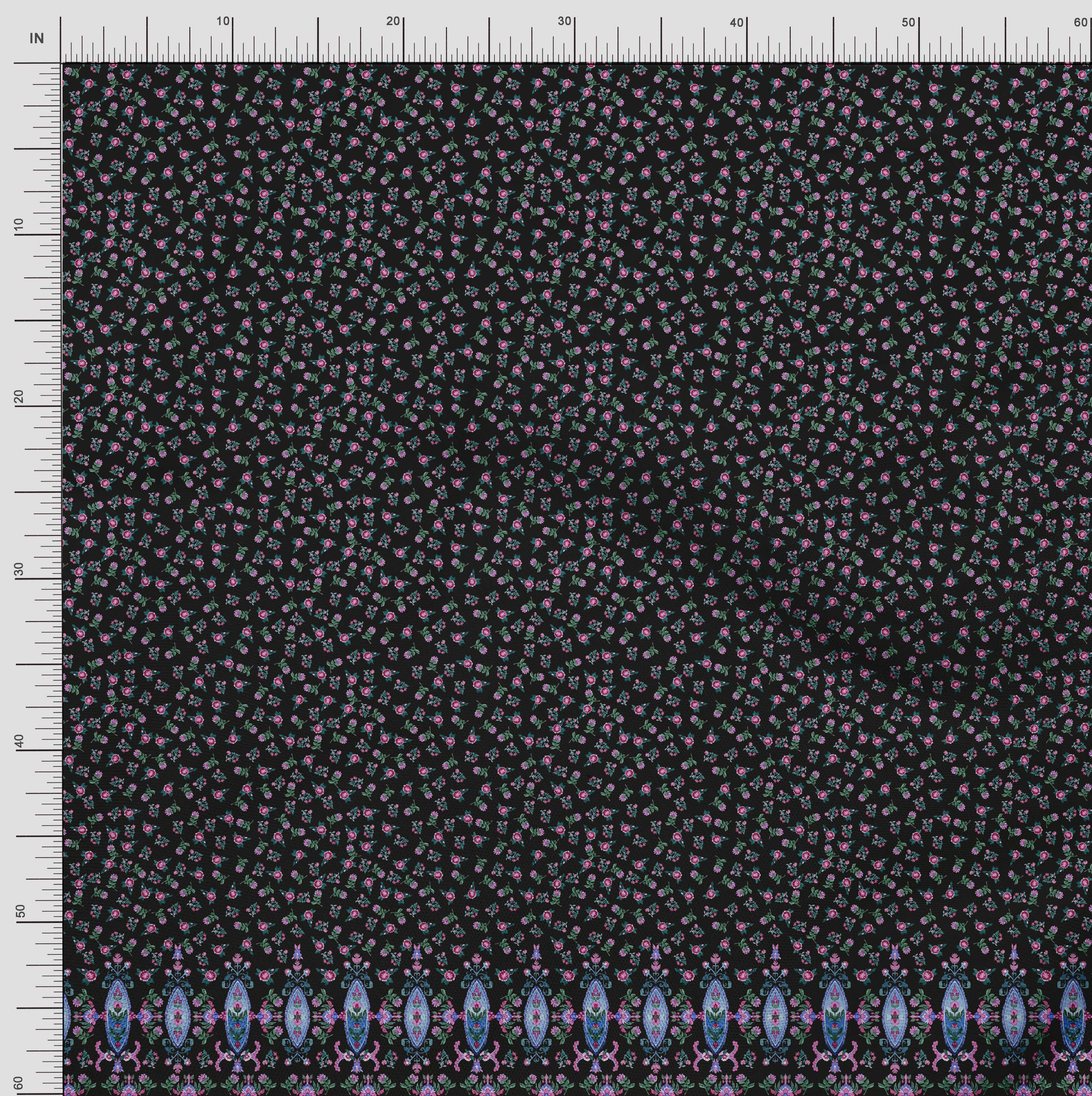 Soimoi-Cotton-Poplin-Fabric-Floral-amp-Leaves-Panel-Print-Fabric-by-IMg thumbnail 4