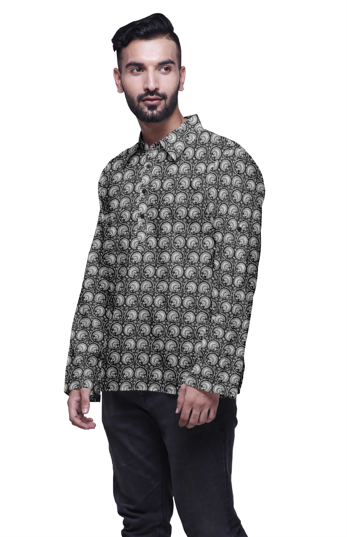 Atasi Men/'s Yellow Casual Short Kurta Indian Tunic V-Neck Cotton Shirt