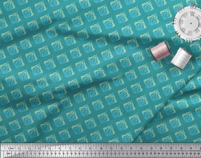 Soimoi-Cotton-Poplin-Fabric-Flourish-Damask-Print-Fabric-by-metre-JSB thumbnail 3