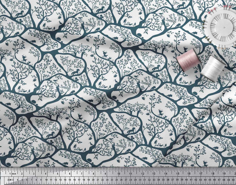 Soimoi-Fabric-Animal-amp-Tree-Print-Fabric-by-the-Yard-TR-586H thumbnail 13