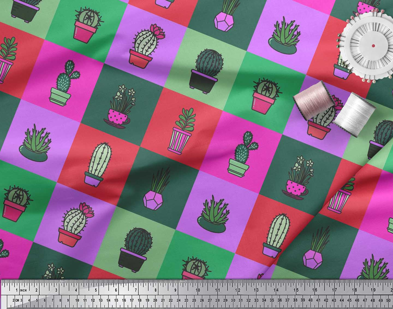 Soimoi-Cotton-Poplin-Fabric-Cactus-Tree-Print-Fabric-by-the-metre-cjO thumbnail 4