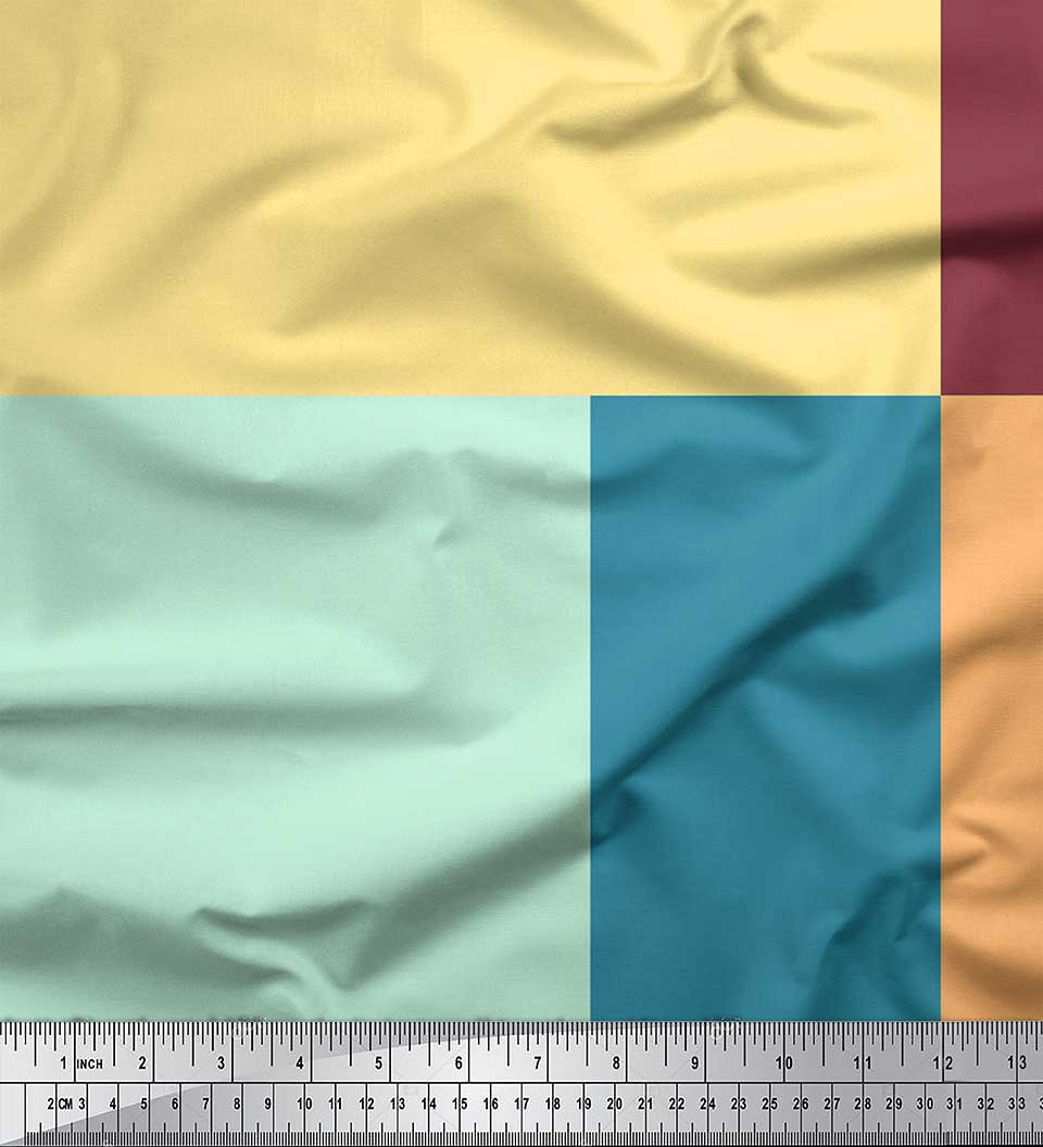Soimoi-Cotton-Poplin-Fabric-Geometric-Panel-Print-Fabric-by-metre-uzp thumbnail 3