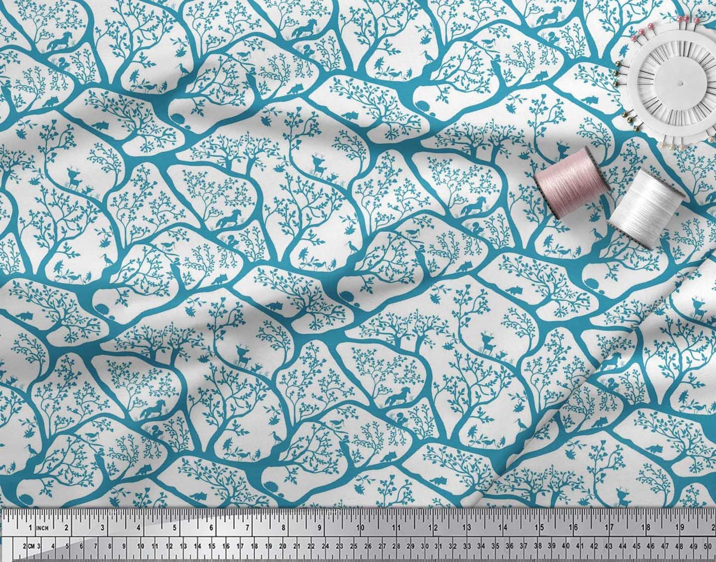 Soimoi-Fabric-Animal-amp-Tree-Print-Fabric-by-the-Yard-TR-586H thumbnail 15