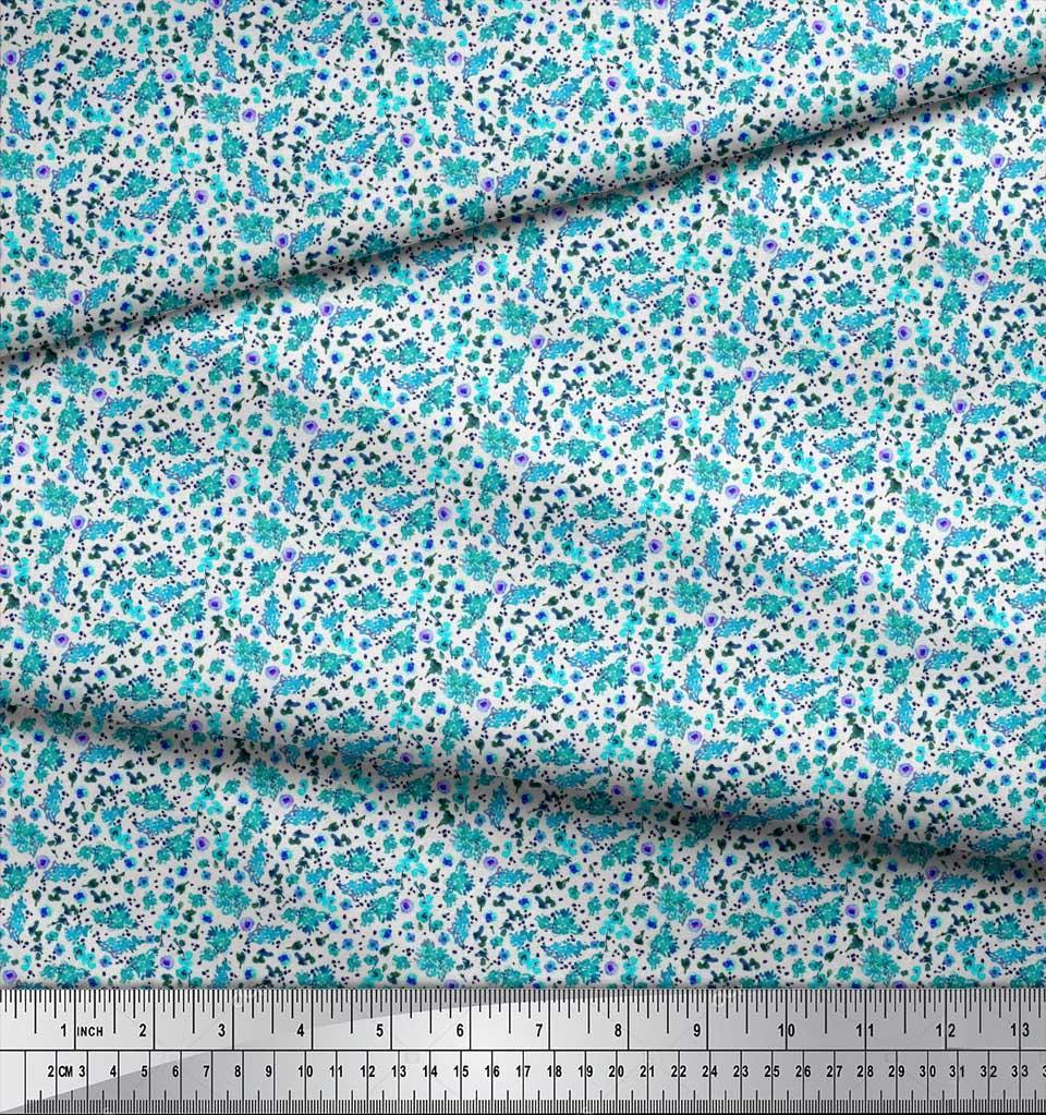 Soimoi-Cotton-Poplin-Fabric-Flower-Watercolor-Fabric-Prints-By-metre-tqw thumbnail 4