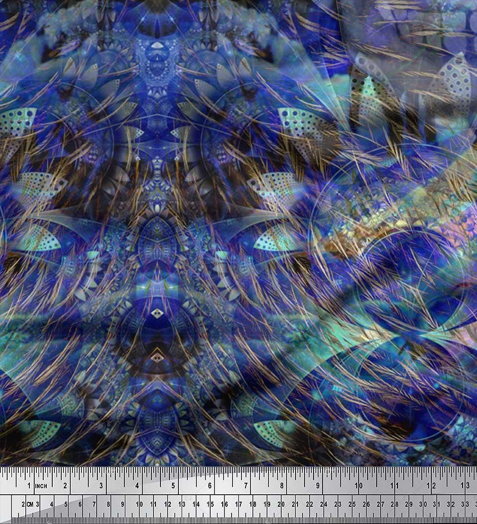 Soimoi-Cotton-Poplin-Fabric-Floral-amp-Panel-Print-Fabric-by-the-metre-bqB thumbnail 3