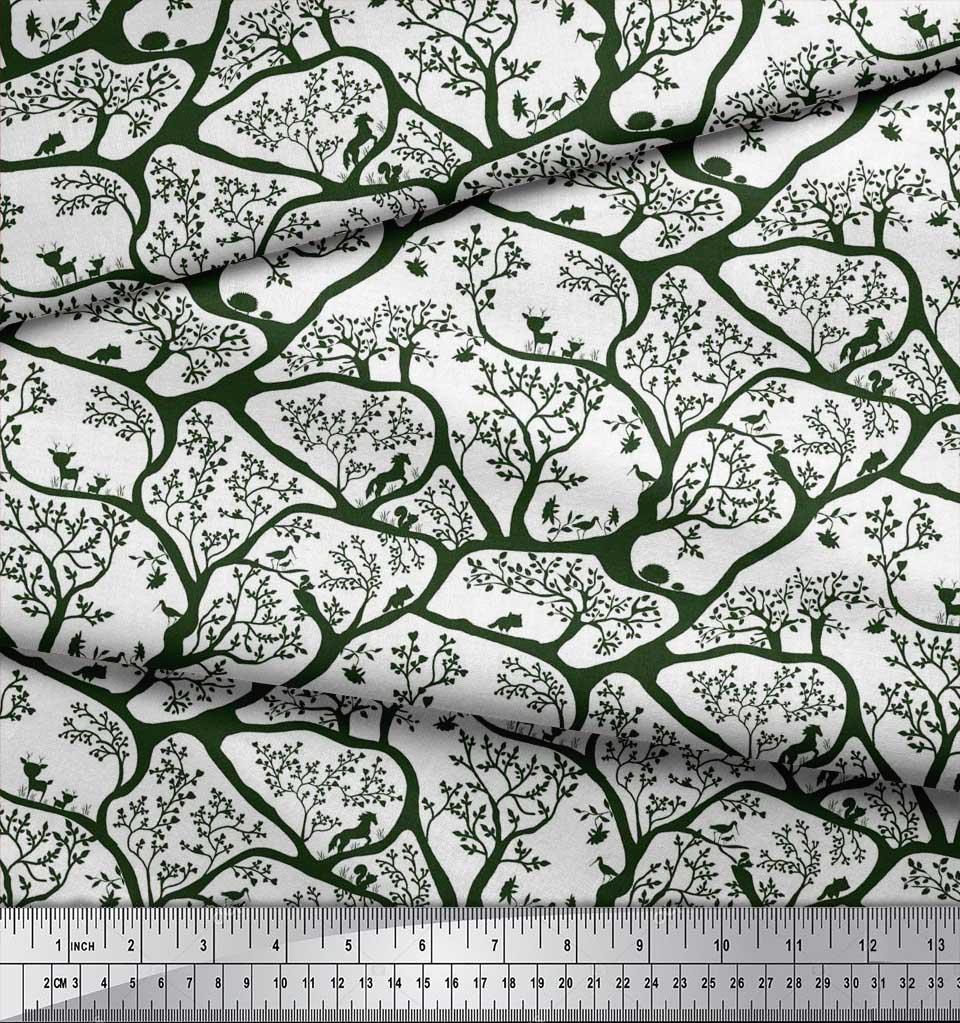 Soimoi-Fabric-Animal-amp-Tree-Print-Fabric-by-the-Yard-TR-586H thumbnail 25