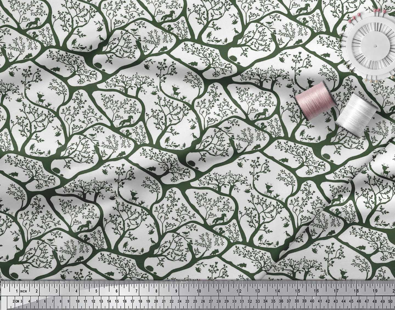 Soimoi-Fabric-Animal-amp-Tree-Print-Fabric-by-the-Yard-TR-586H thumbnail 24
