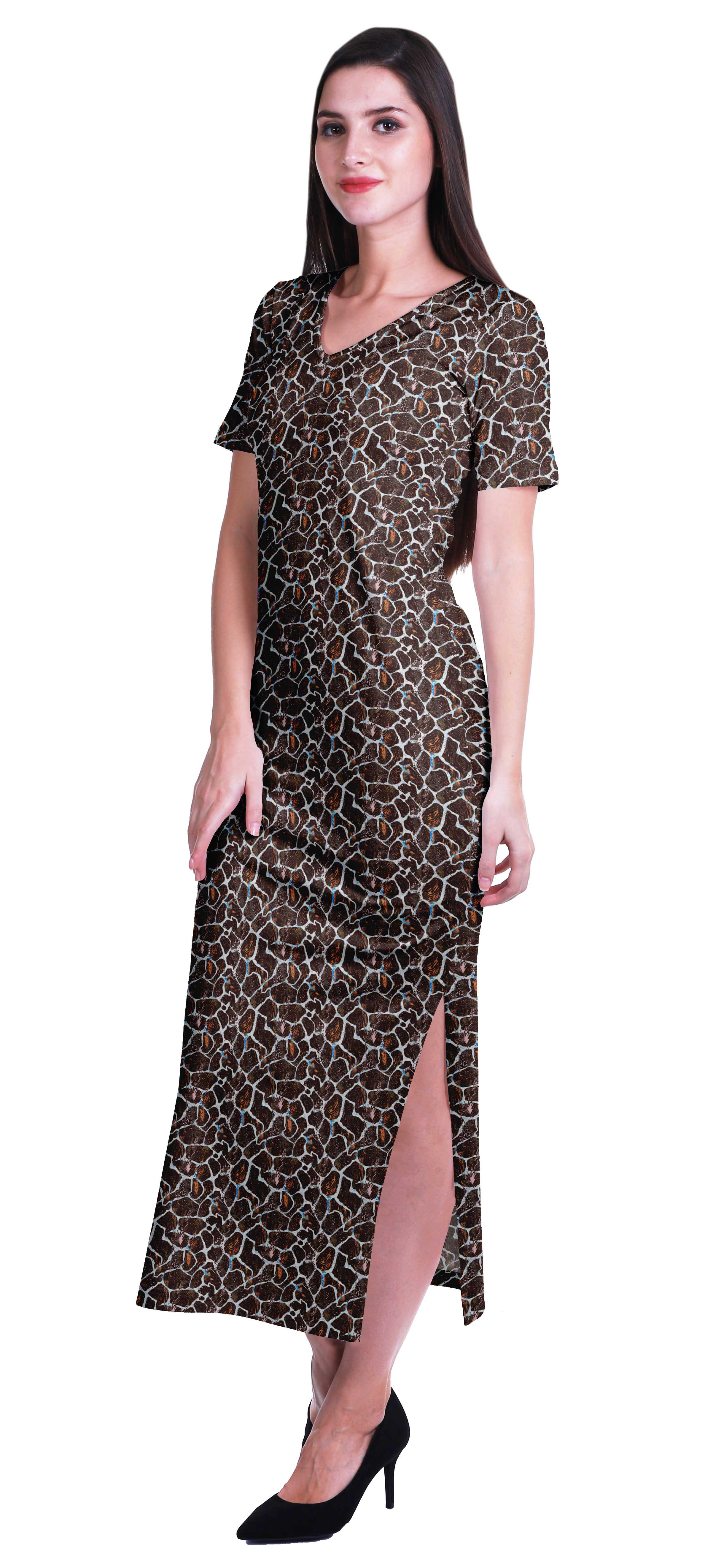 Moomaya Lange Bodycon Maxi,Kleid Für Frauen Kurze Ärmel V