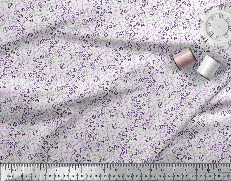 Soimoi-Cotton-Poplin-Fabric-Coffee-Beans-Food-Print-Sewing-Fabric-UlJ thumbnail 4