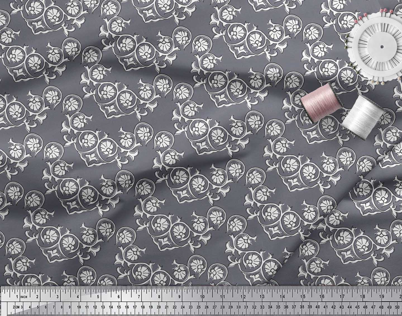 Soimoi-Cotton-Poplin-Fabric-Floral-Block-Fabric-Prints-By-metre-tOK thumbnail 3