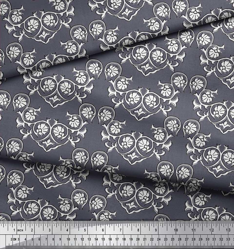 Soimoi-Cotton-Poplin-Fabric-Floral-Block-Fabric-Prints-By-metre-tOK thumbnail 4