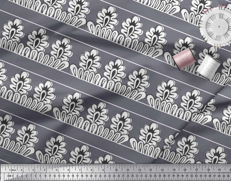 Soimoi-Cotton-Poplin-Fabric-Floral-Block-Printed-Craft-Fabric-by-oM4 thumbnail 4