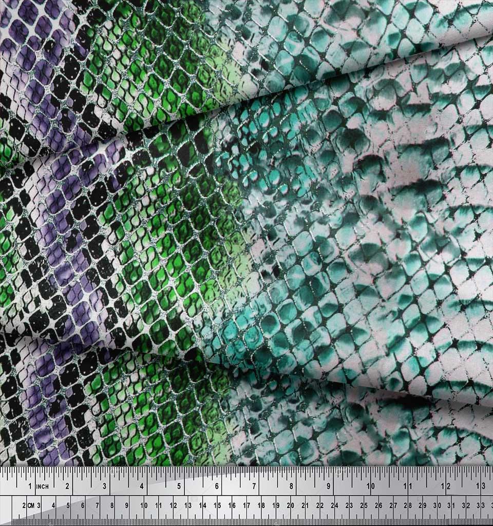 Soimoi-Cotton-Poplin-Fabric-Snake-Animal-Skin-Printed-Fabric-1-metre-aoN thumbnail 3