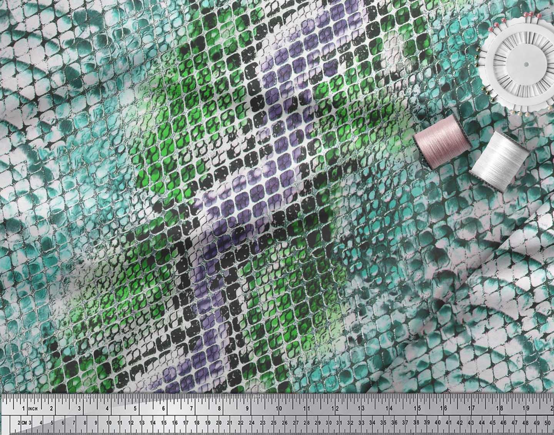 Soimoi-Cotton-Poplin-Fabric-Snake-Animal-Skin-Printed-Fabric-1-metre-aoN thumbnail 4