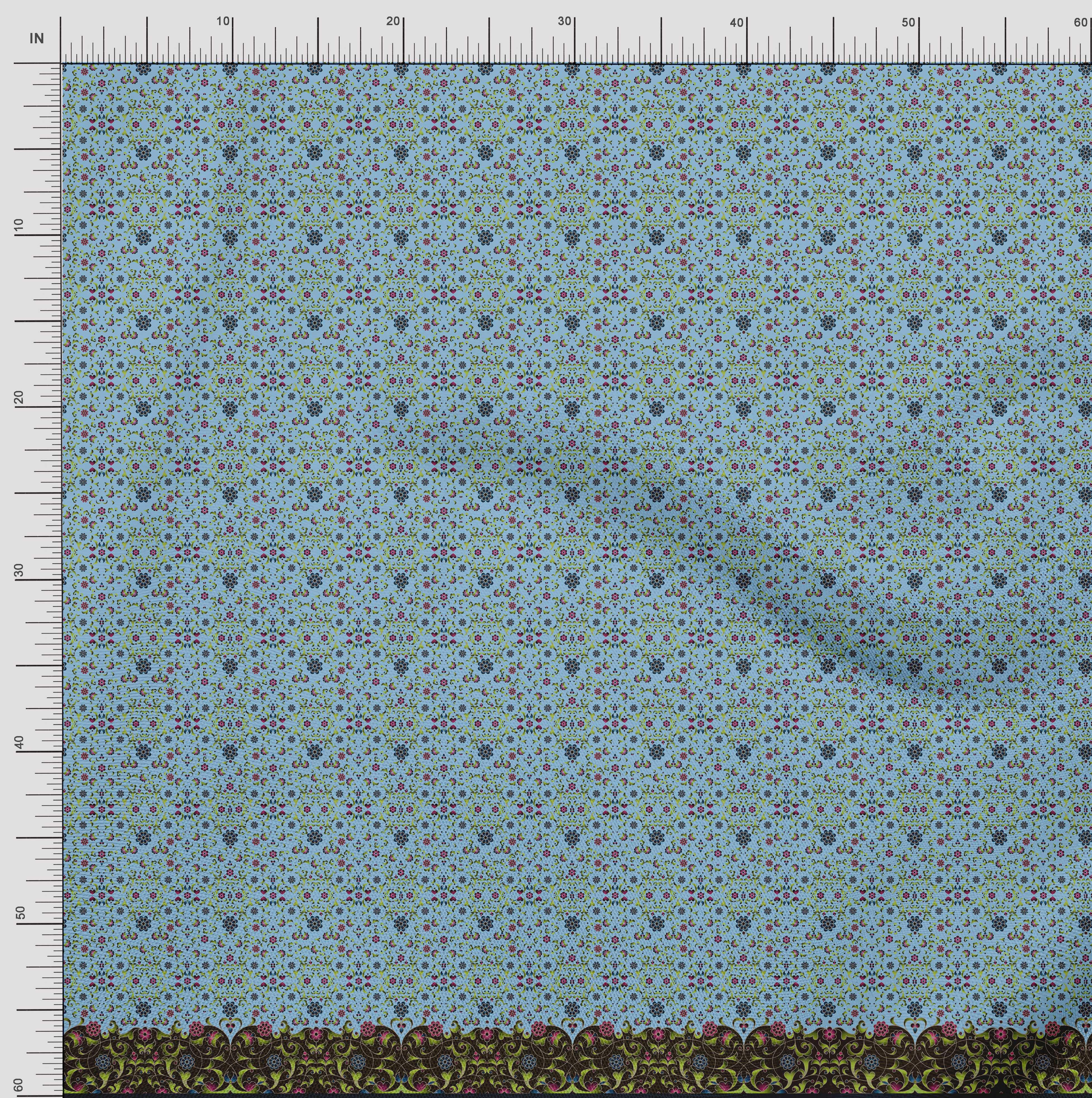 Soimoi-Cotton-Poplin-Fabric-Floral-amp-Leaves-Panel-Printed-Fabric-pGN thumbnail 4