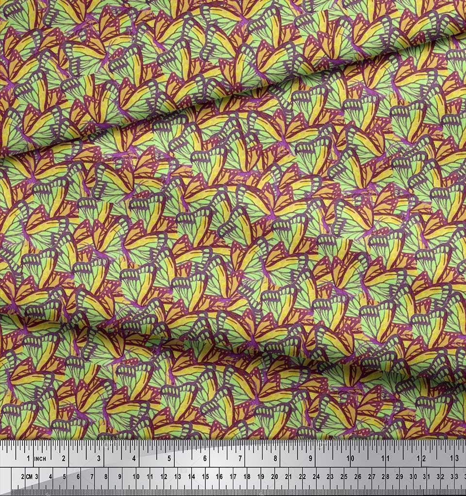 Soimoi-Cotton-Poplin-Fabric-Butterflies-Butterfly-Fabric-Prints-kuI thumbnail 4