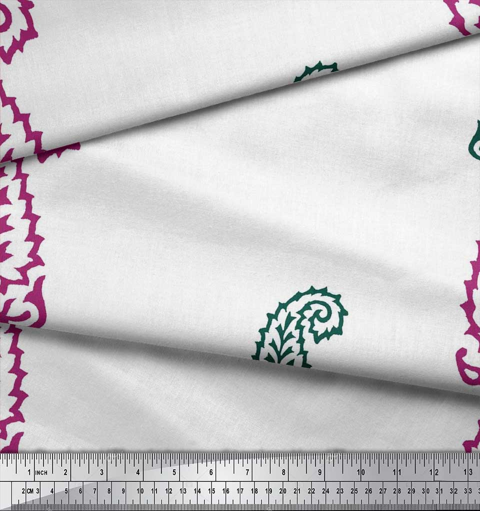 Soimoi-Fabric-Paisley-Block-Decor-Fabric-Printed-BTY-BP-60A thumbnail 9