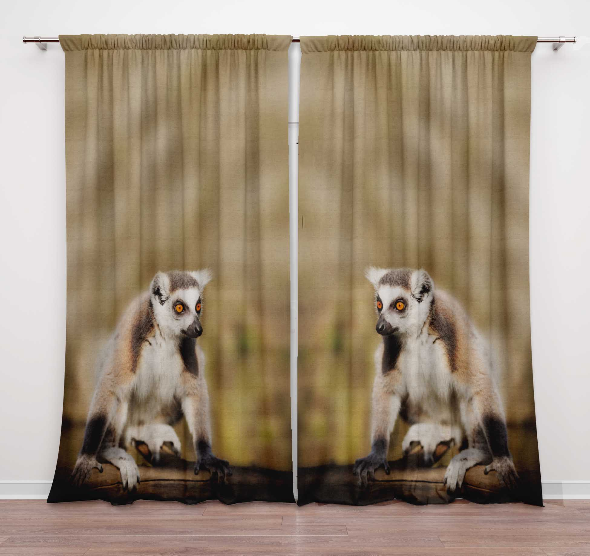 Printed Double Panel Door Curtains For Bedroom Rod Pocket Window Curtain Dcti3a Ebay