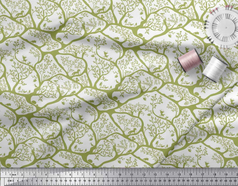 Soimoi-Fabric-Animal-amp-Tree-Print-Fabric-by-the-Yard-TR-586H thumbnail 7