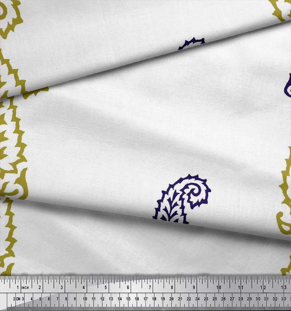 Soimoi-Fabric-Paisley-Block-Decor-Fabric-Printed-BTY-BP-60A thumbnail 6