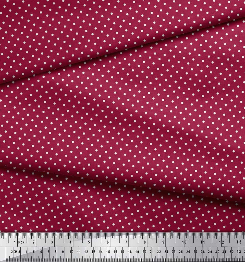 Soimoi-Cotton-Poplin-Fabric-Dots-Dots-Decor-Fabric-Printed-metre-iZY thumbnail 3