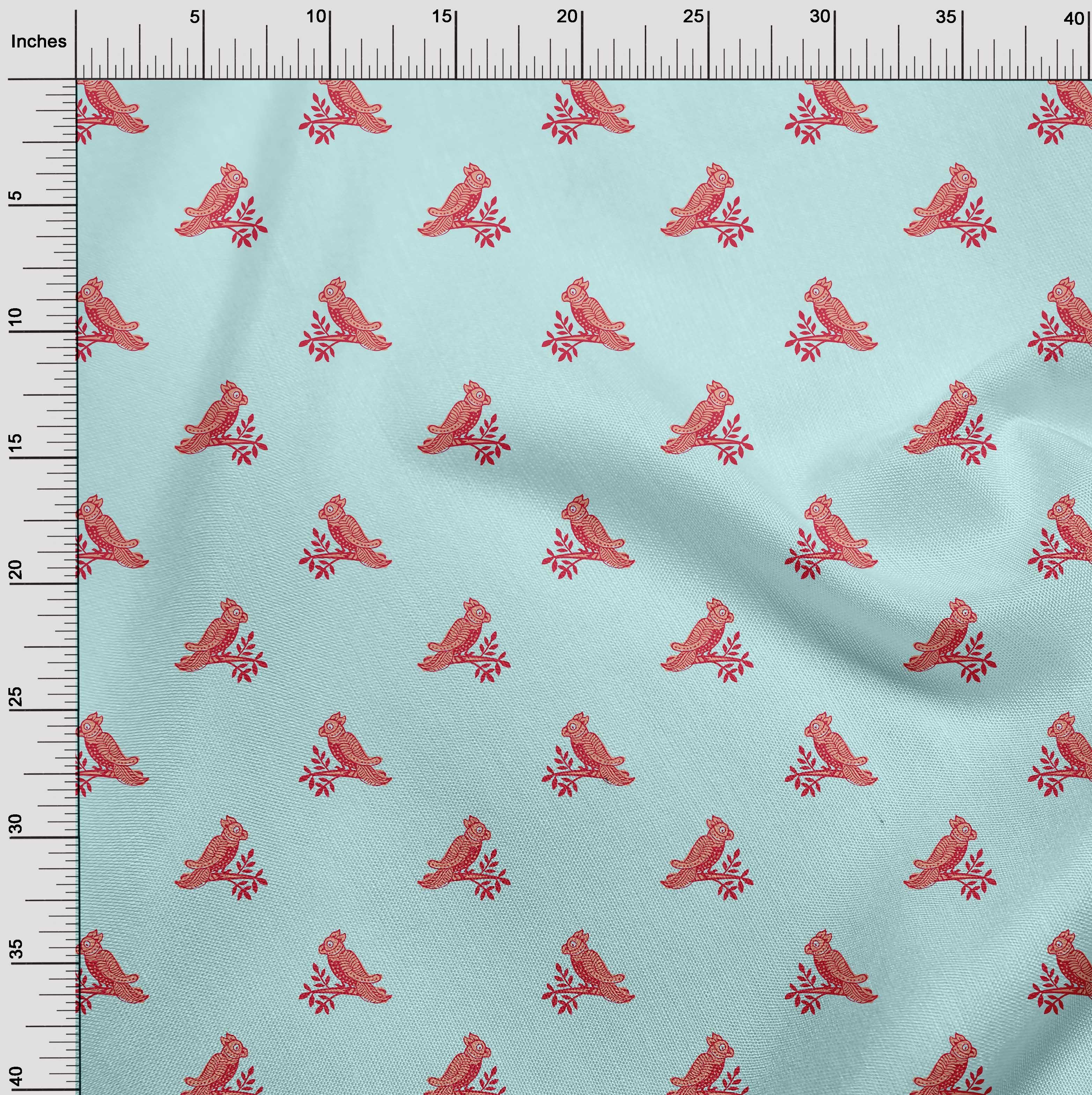 Viskose marine Vogel Zweig Blusen Kleider
