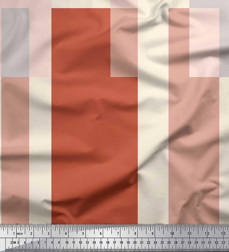 Soimoi-Cotton-Poplin-Fabric-Geometric-Panel-Decor-Fabric-Printed-zps thumbnail 3