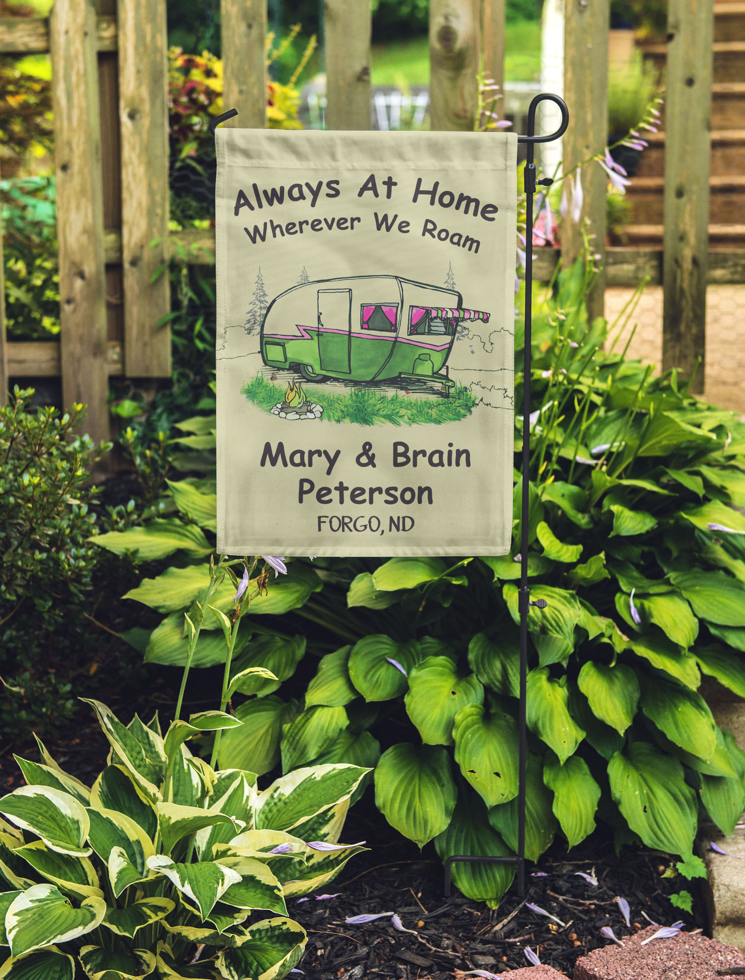 Details About Printtoo Flags Personalized Outdoor Garden Flags Camp Decor Accessory Rct Prcm3b