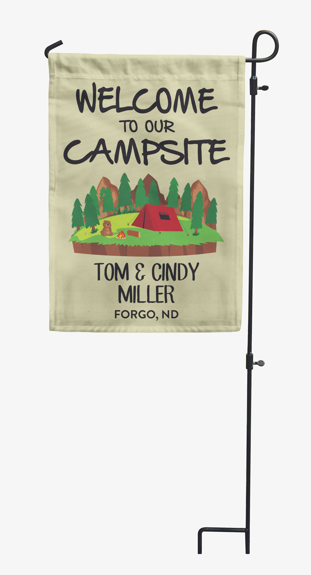 Printtoo CampingFlagsPersonalized Outdoor GardenFlagsCamp Decor-GSR-PRCM98B