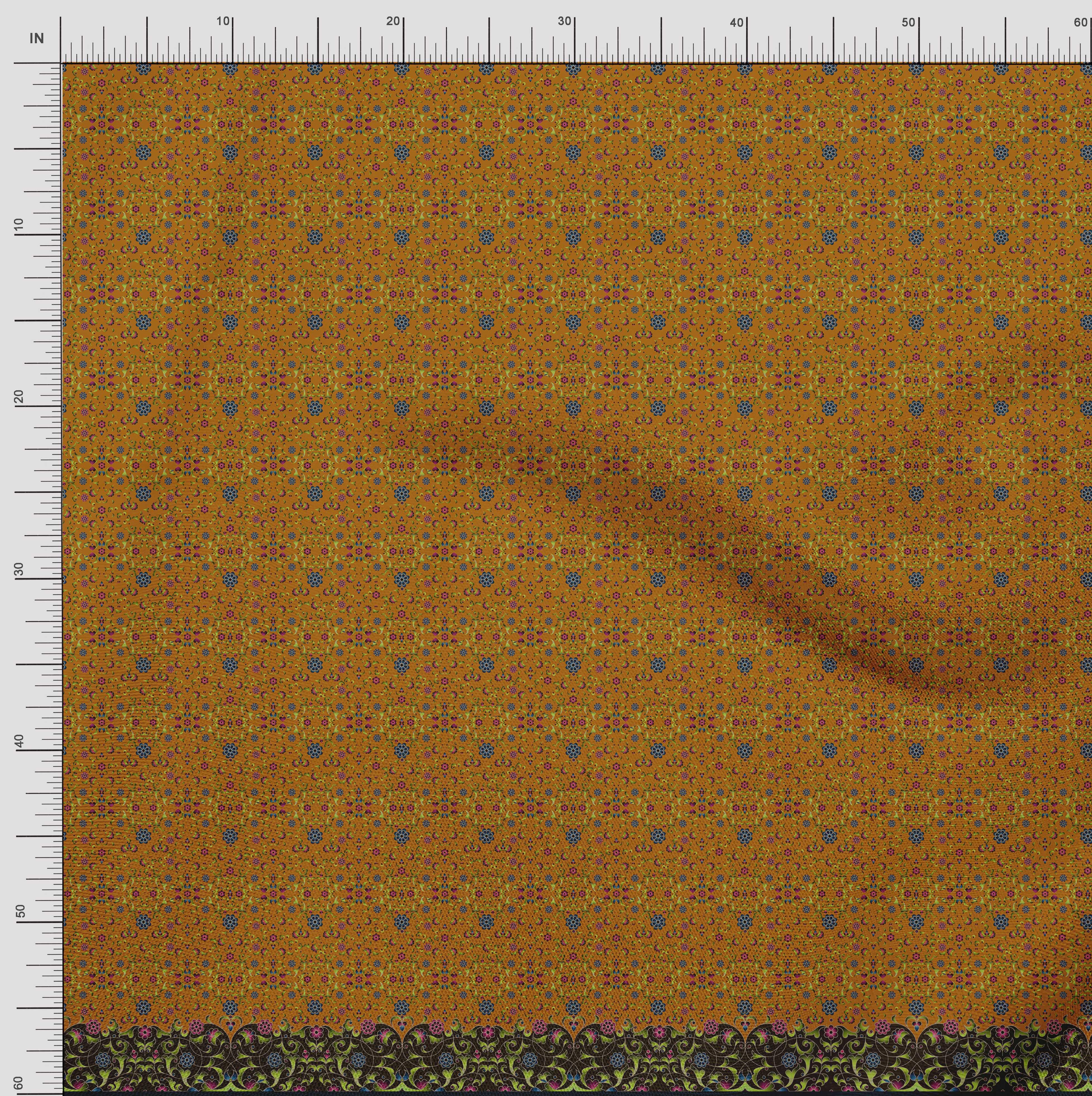 Soimoi-Cotton-Poplin-Fabric-Floral-amp-Leaves-Panel-Print-Fabric-by-5GU thumbnail 4