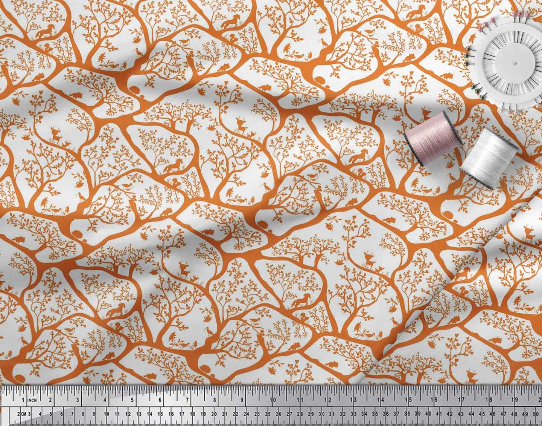 Soimoi-Fabric-Animal-amp-Tree-Print-Fabric-by-the-Yard-TR-586H thumbnail 4