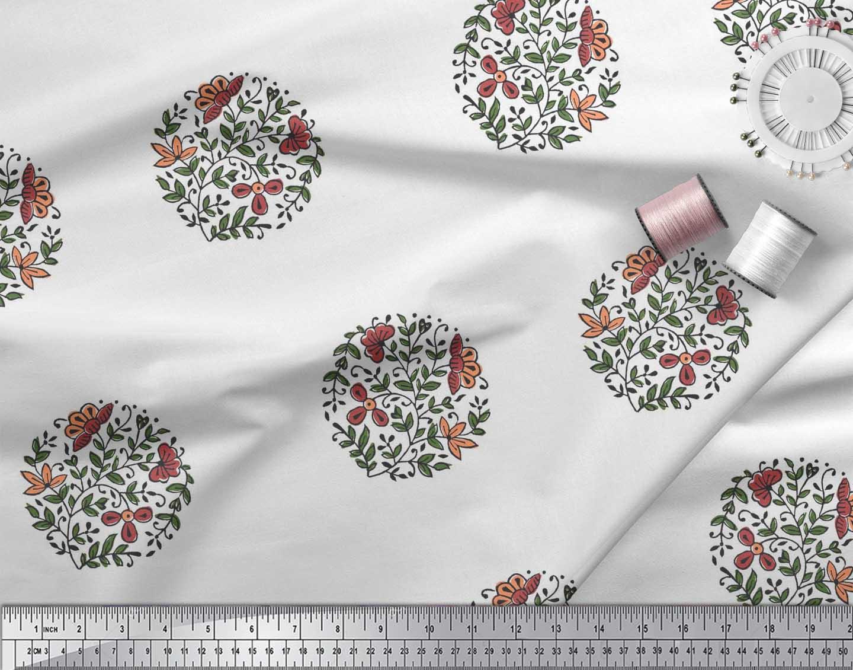Soimoi-Fabric-Leaves-amp-Floral-Block-Print-Fabric-by-the-Yard-BP-101B thumbnail 15