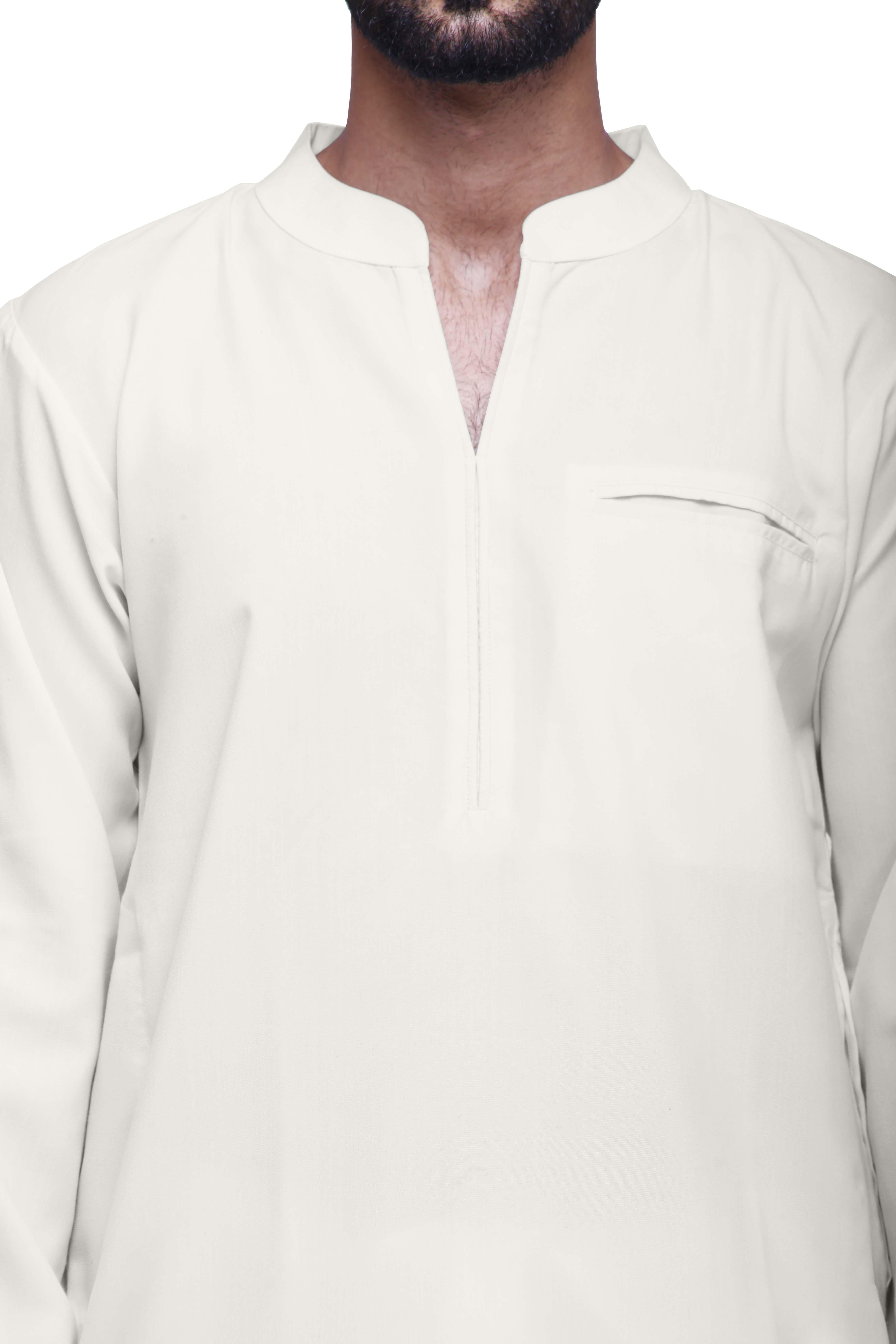 miniature 4 - Atasi Kurta mens kurta coton pour les garçons mariage solide longue-OLG