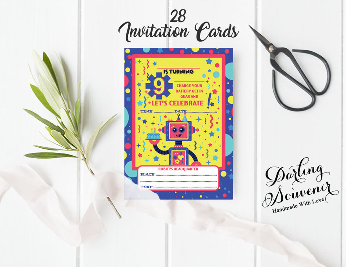 Details About Birthday Invitation Card Write Blank Invites Party Supplies Pack Of 28 Ds In88a