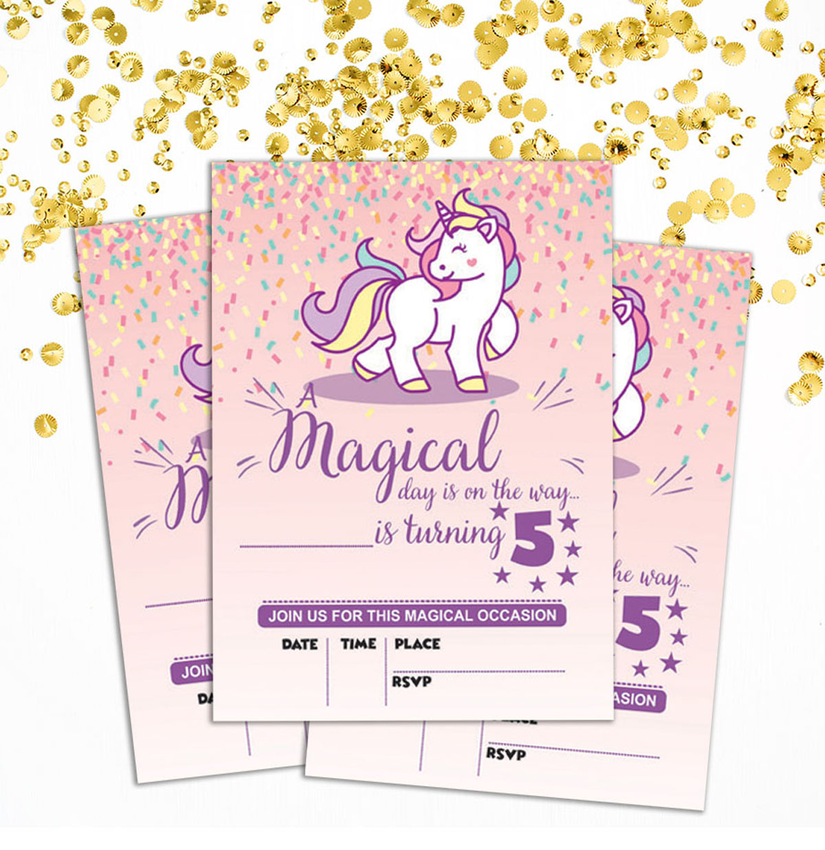 Details About Birthday Invitation Card 28 Pcs Blank Invites Printable Party Supplies Ds In77d
