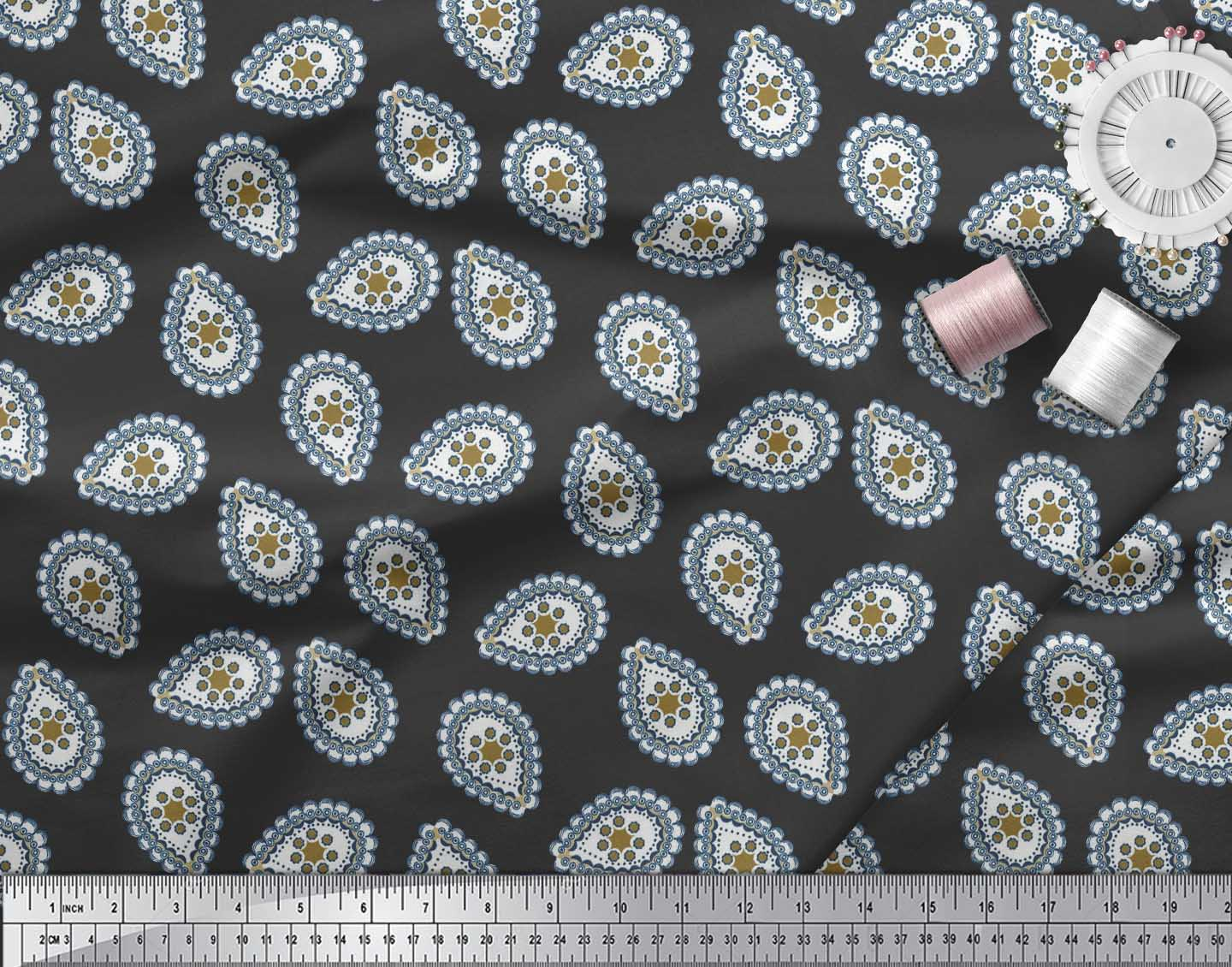 Soimoi-Cotton-Poplin-Fabric-Abstracts-Abstract-Print-Fabric-by-the-Vj2 thumbnail 3