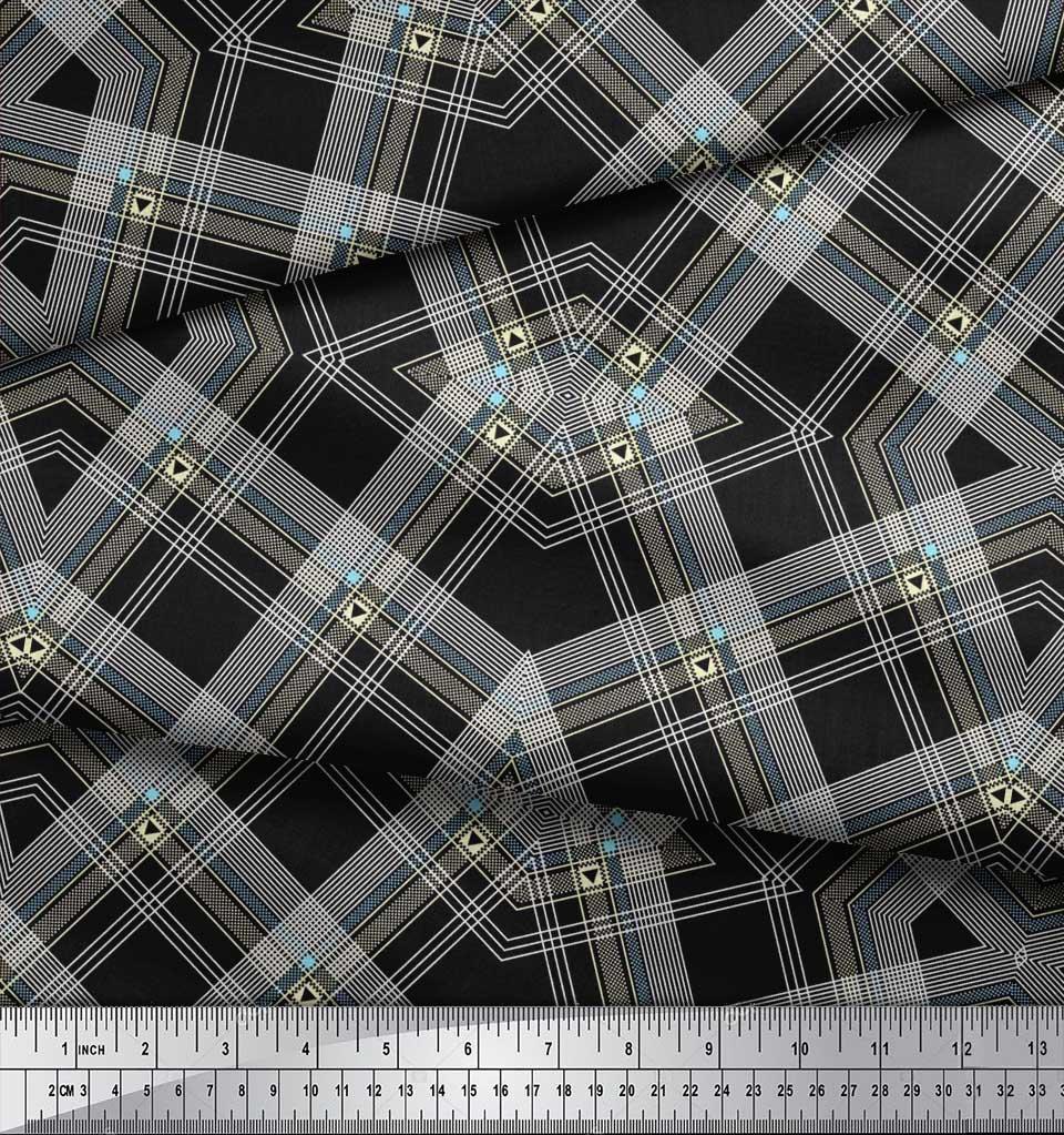 Soimoi-Cotton-Poplin-Fabric-Gingham-Check-Print-Sewing-Fabric-metre-dnJ thumbnail 4