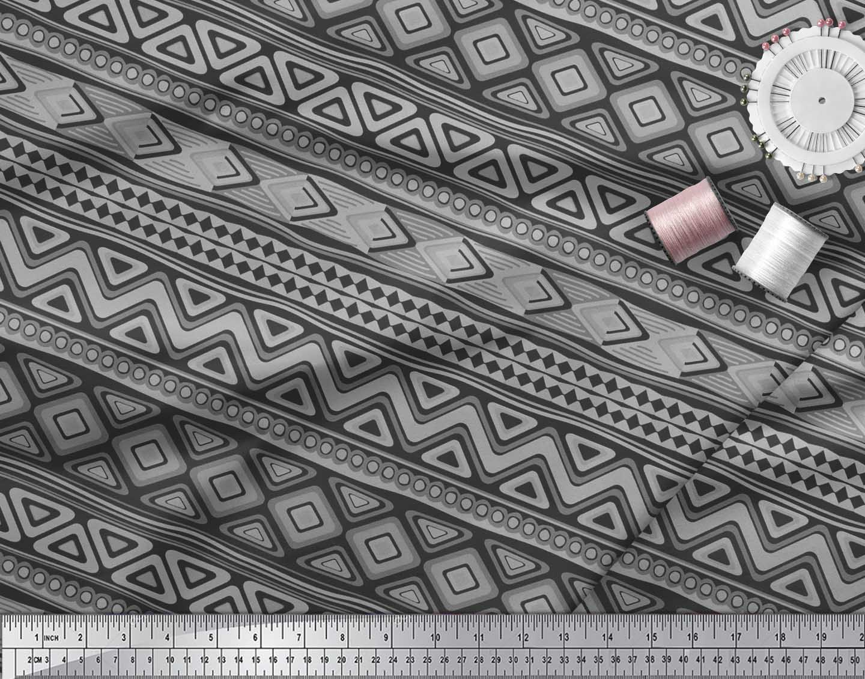 Soimoi-Cotton-Poplin-Fabric-Aztec-Geometric-Printed-Fabric-1-metre-PLw thumbnail 4