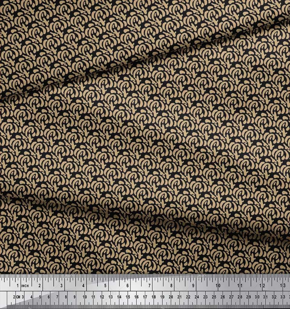 Soimoi-Cotton-Poplin-Fabric-Brush-Stroke-Abstract-Printed-Craft-TJ6 thumbnail 4