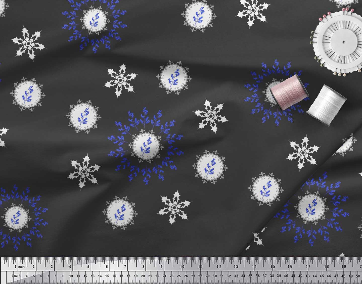 Soimoi-Fabric-Berries-amp-Damask-Decorative-Printed-Craft-Fabric-bty-DC-513A thumbnail 4