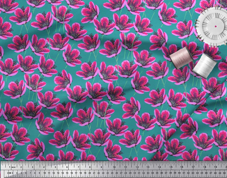 Soimoi-Cotton-Poplin-Fabric-Artistic-Floral-Print-Fabric-by-the-QfF thumbnail 4