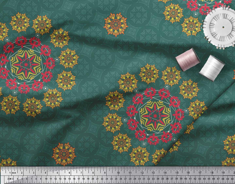 Soimoi-Fabric-Damask-amp-Mandala-Decorative-Print-Sewing-Fabric-BTY-DC-510E thumbnail 18