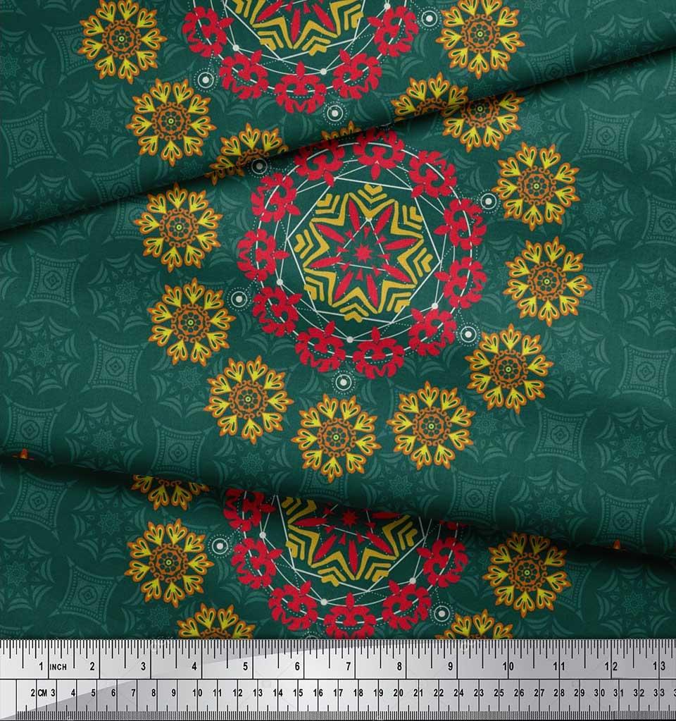Soimoi-Fabric-Damask-amp-Mandala-Decorative-Print-Sewing-Fabric-BTY-DC-510E thumbnail 19