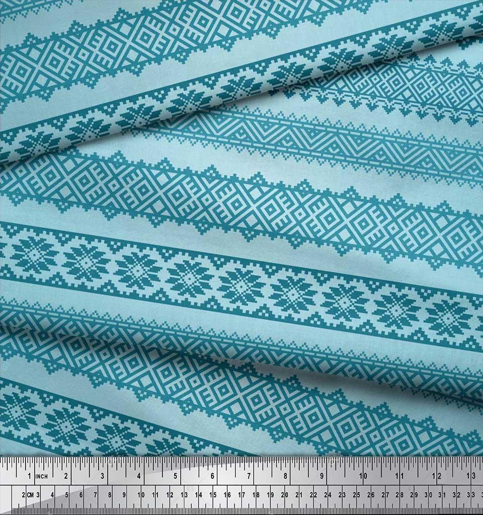 Soimoi-Cotton-Poplin-Fabric-Aztec-Geometric-Fabric-Prints-By-metre-aXi thumbnail 3