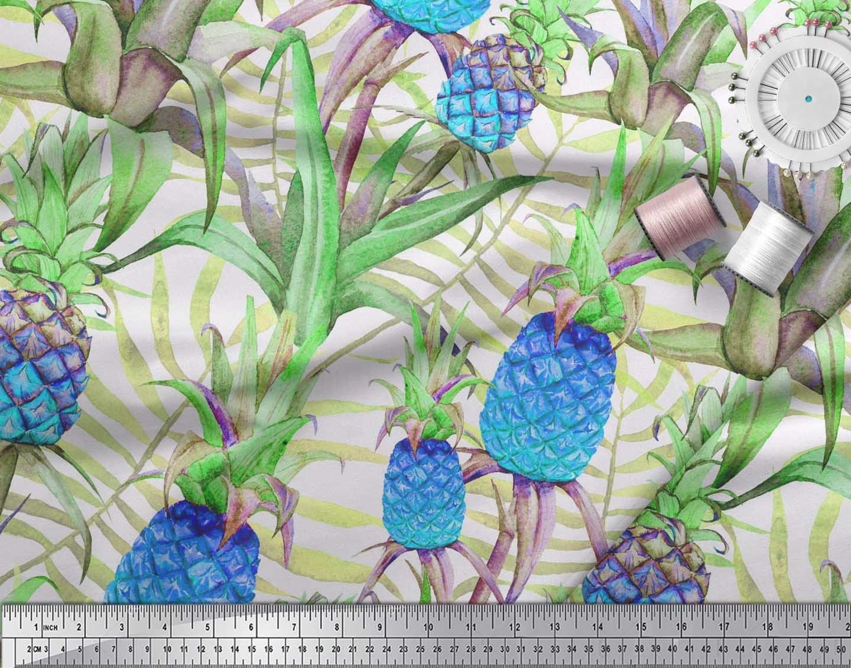 Soimoi-Cotton-Poplin-Fabric-Leaves-amp-Pine-Fruits-Decor-Fabric-Printed-vra thumbnail 3