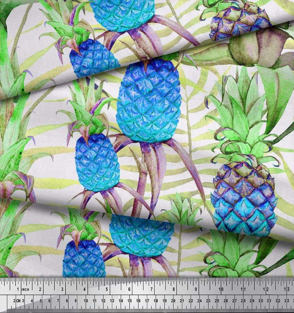 Soimoi-Cotton-Poplin-Fabric-Leaves-amp-Pine-Fruits-Decor-Fabric-Printed-vra thumbnail 4