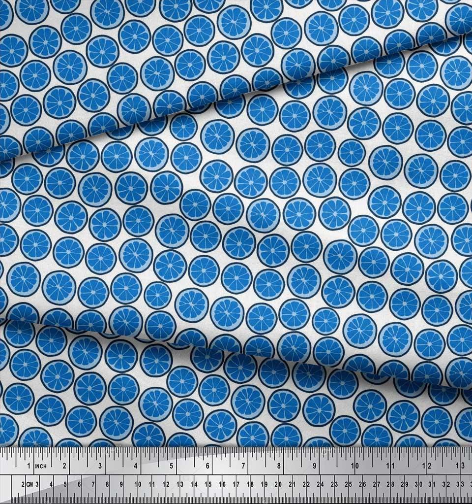 Soimoi-Cotton-Poplin-Fabric-Lemon-Slice-Vegetable-Print-Fabric-by-219 thumbnail 3