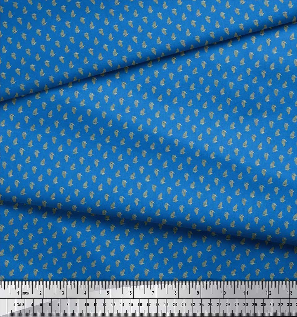 Soimoi-Cotton-Poplin-Fabric-Artistic-Floral-Print-Fabric-by-the-kxN thumbnail 4