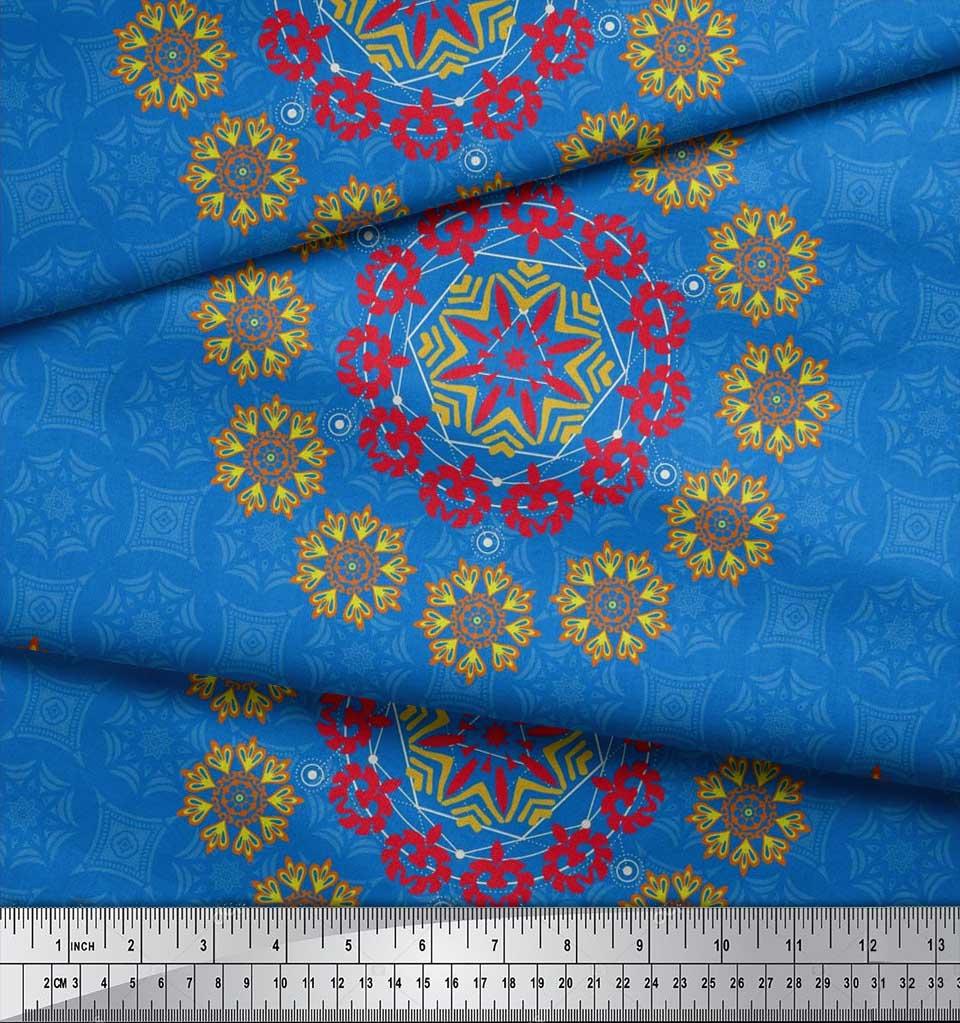 Soimoi-Fabric-Damask-amp-Mandala-Decorative-Print-Sewing-Fabric-BTY-DC-510E thumbnail 16
