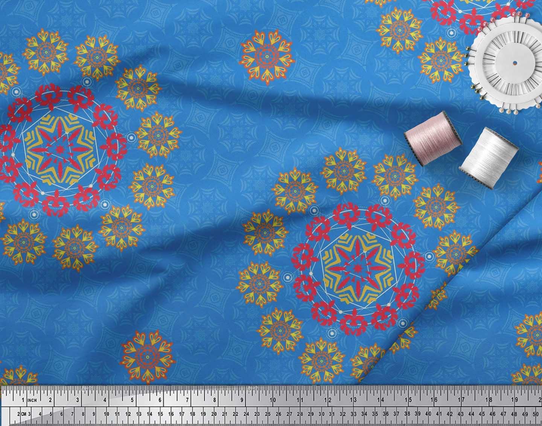 Soimoi-Fabric-Damask-amp-Mandala-Decorative-Print-Sewing-Fabric-BTY-DC-510E thumbnail 15